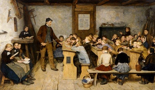 Albert Anker -Escuela del pueblo