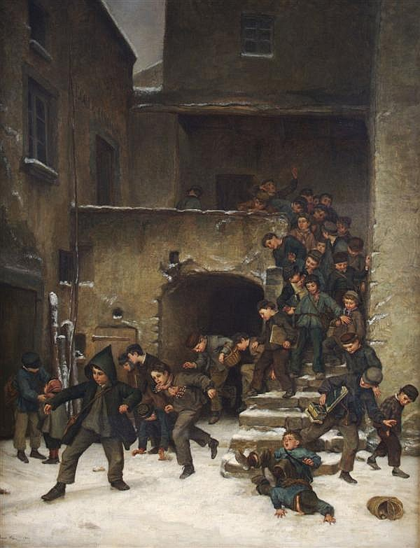 Pierre-Edouard Frère (1819 - 1886) Out of School