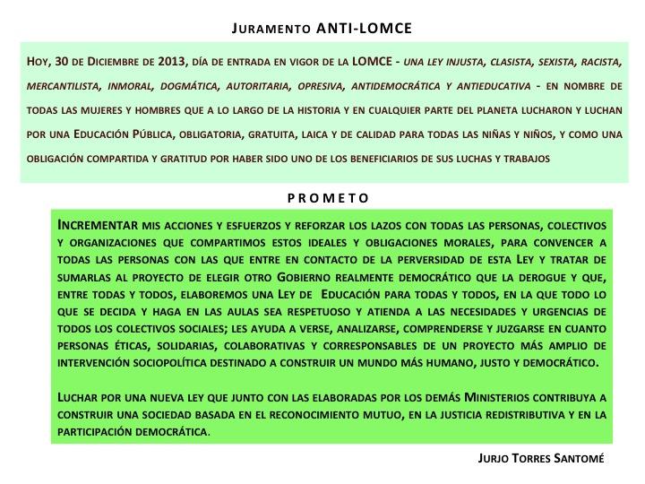 Juramento Anti-LOMCE