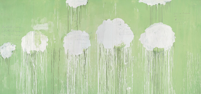 Cy Twombly (Peony Blossom Painting)