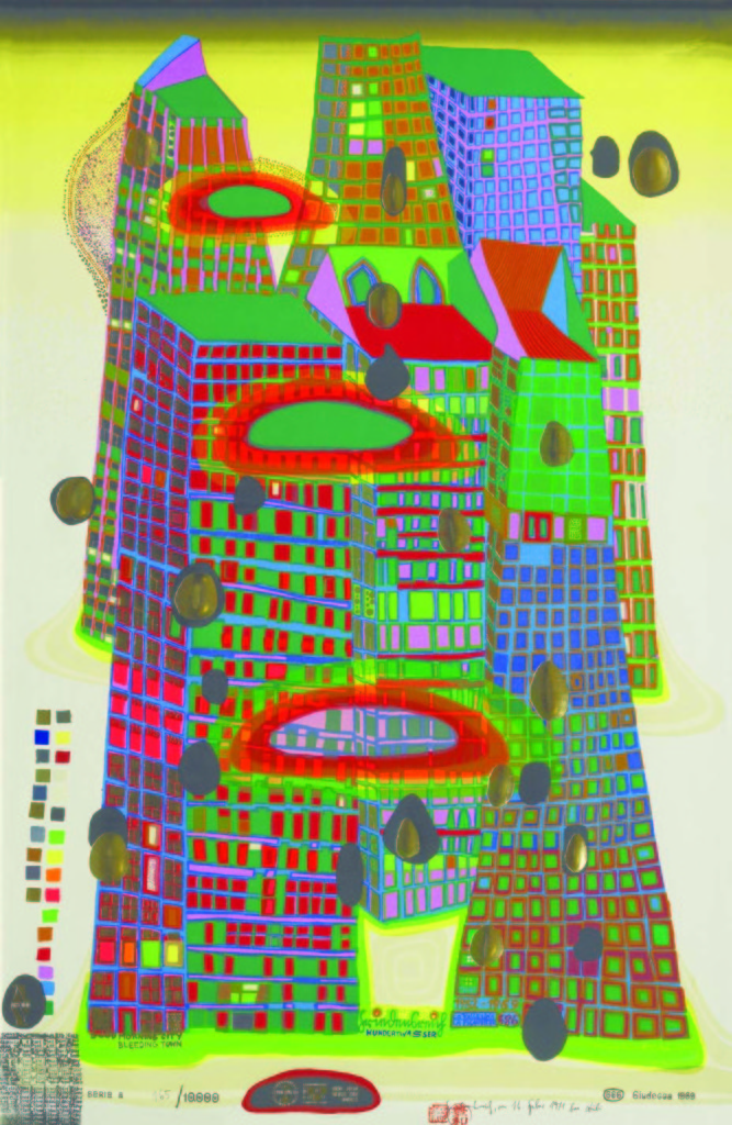 F. Hundertwasser - Goog morning city bleeding town