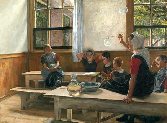 "Charles Frederic Ulrich (1858-1908) - ""Children in a Schoolroom"""