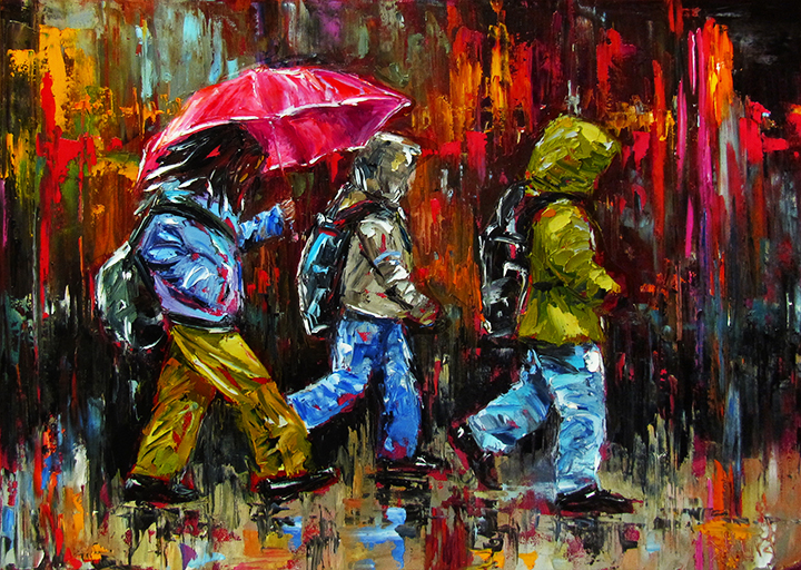 "Debra Hurd- ""Off To School"""