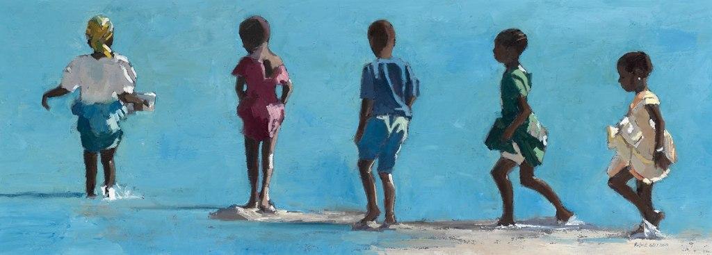 "PatrickGibbs - ""Children-walking into the Sea, Zanzibar"