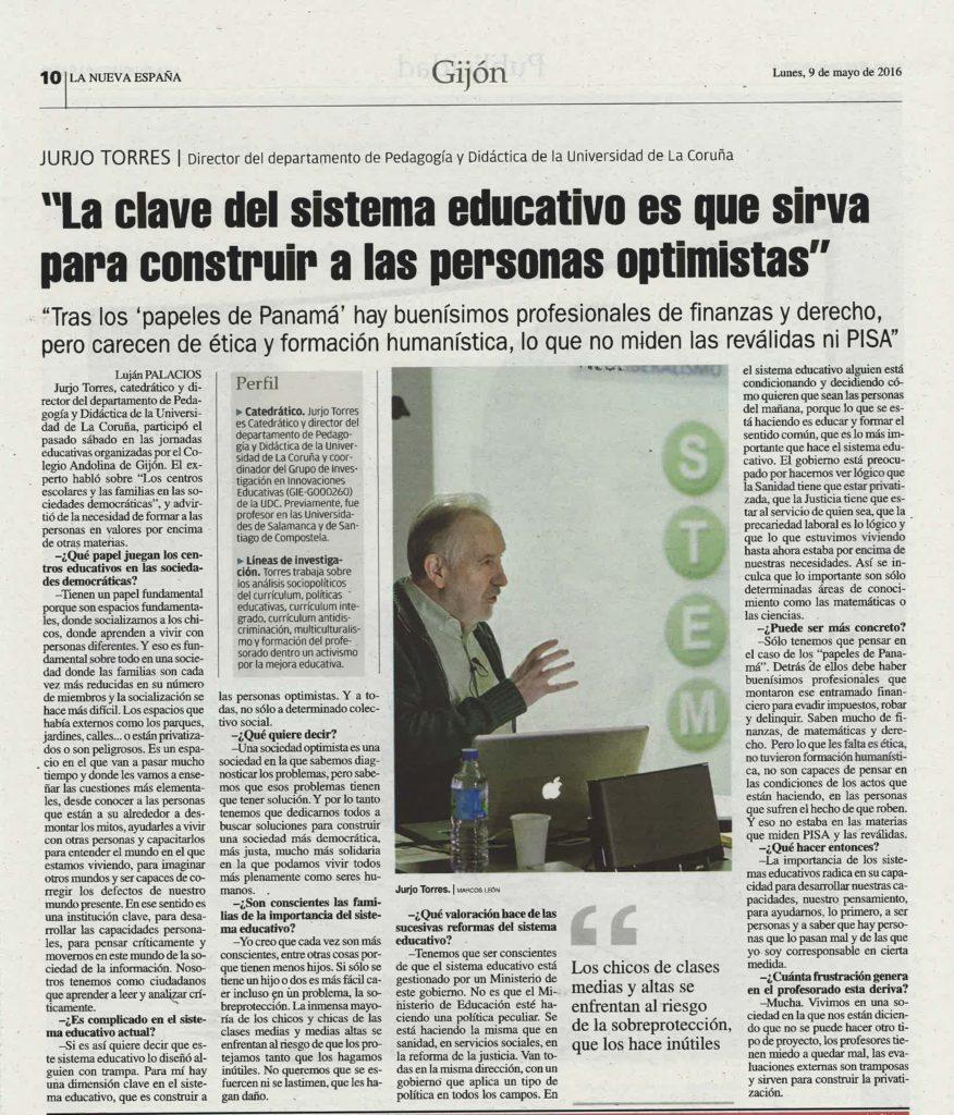 Entrevista La Nueva España