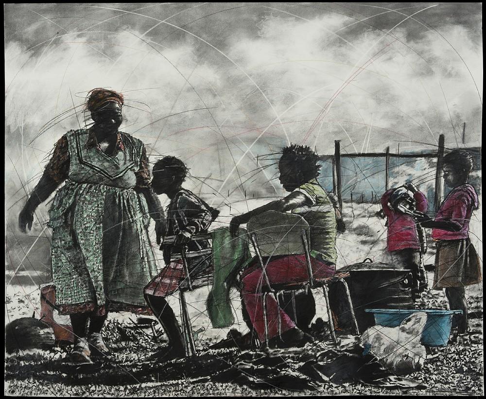 """Phillemon Hlunwani - """"Va Vasati A Tirhweni"""" (Women at Work), 2015"""